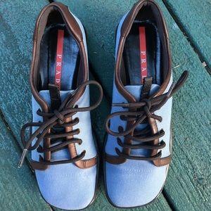 🎉CLEAROUT SALE🎉 🦋 Prada Sport Blue Canvas Shoes